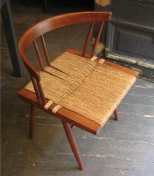George Nakashima Set of 6 Grass Seat Chairs