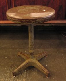 Adjusta-Stool Industrial Style Metal Stool from the 1950s