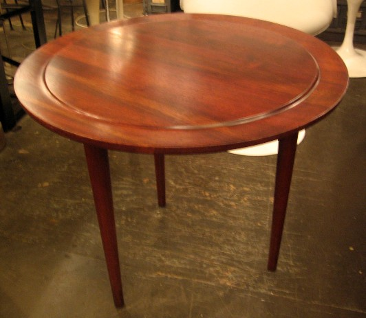 Jens Risom Solid Top Beveled Edge Side Table