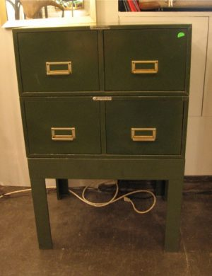 1950s Army Green 5X8 Card Mini File Cabinets