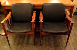 Fredrik Kayser Model 710 Rosewood Lounge Chairs