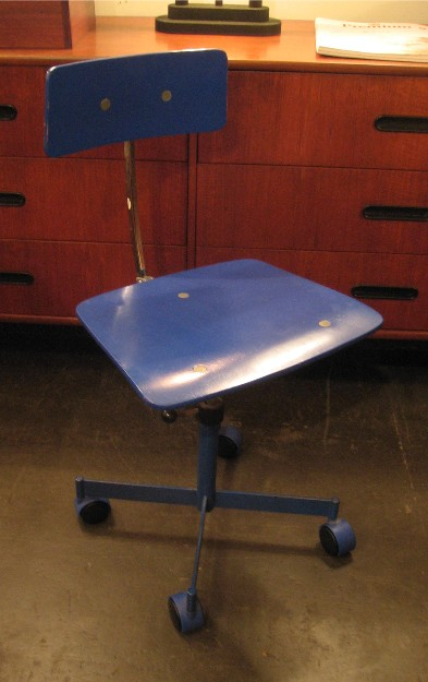 Kevi Desk Chair by Jorgen Rasmussen in Blue
