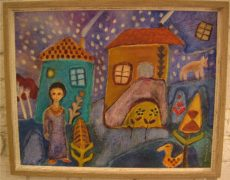 Framed Outsider Art Paintings from the 1960s