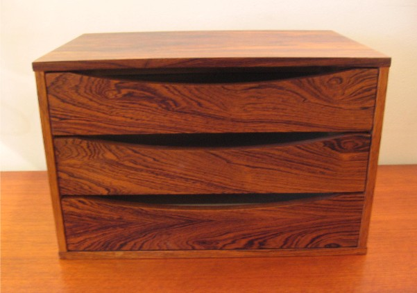 Arne Vodder Rosewood Jewelry Box / Desk Organizer