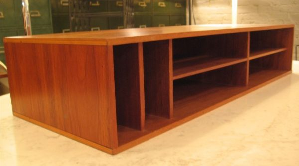 Long Desk Top Teak Organizer