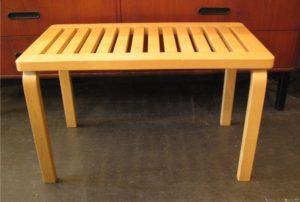 Alvar Aalto L Leg Bench No 153 B