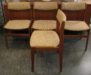 Four Teak Dining Chairs Attributed To Eric Buck