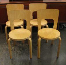 Alvar Aalto Model 66 Chairs by Artek