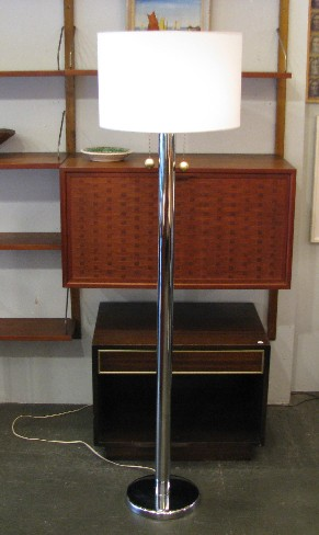1970s Chrome & Brass Floor Lamp by George Kovacs
