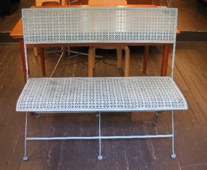 Folding Metal Garden Benches from the 1960s