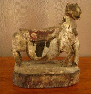 Primitive Carved Wooden Horse