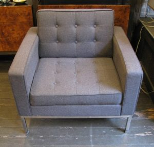 Florence Knoll Style Club Chair with Chrome Legs