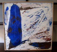 Antonio Ole Untitled Painting Blue Mask