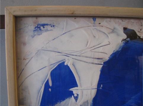 Antonio Ole Untitled Painting Two Masks