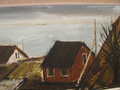 Modernist Seascape Painting by Peder Brondum Sorensen, Denmark