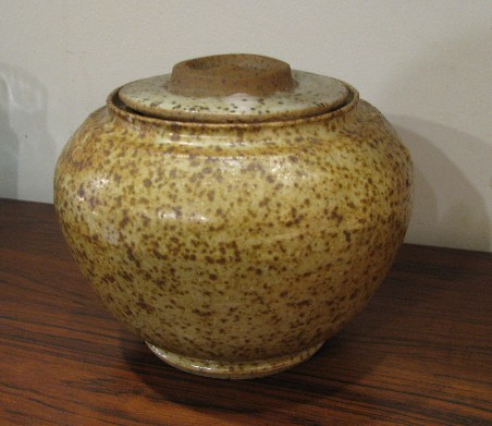 Studio Pottery Lidded Stoneware Vase by Healy