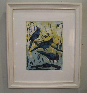 Framed 1960 Silkscreen-Three Little Birds