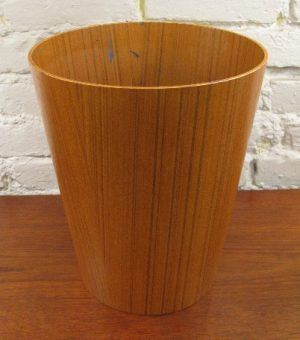 Bent Teak Plywood Waste Basket