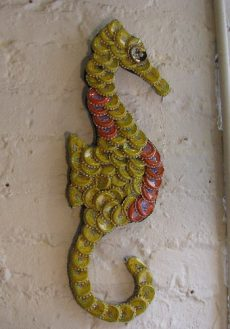 Bottle Cap Sea Horse