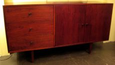 1960's Five Foot Walnut Credenza