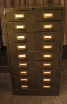 18 Drawer Small Metal Cabinet
