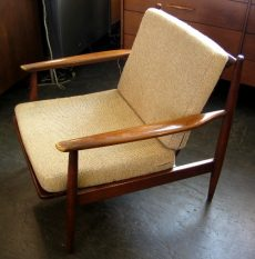1950's Danish Walnut Club Chair