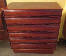 Brazilian Rosewood Six Drawer Dresser from Norway