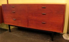 1960s American Walnut Double Dresser