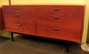 1960s American Walnut Double Dresser
