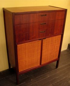 American Walnut and Cane Dresser