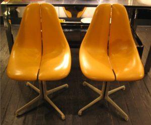 Fiberglass Split Back and Seat Pedestal Chairs