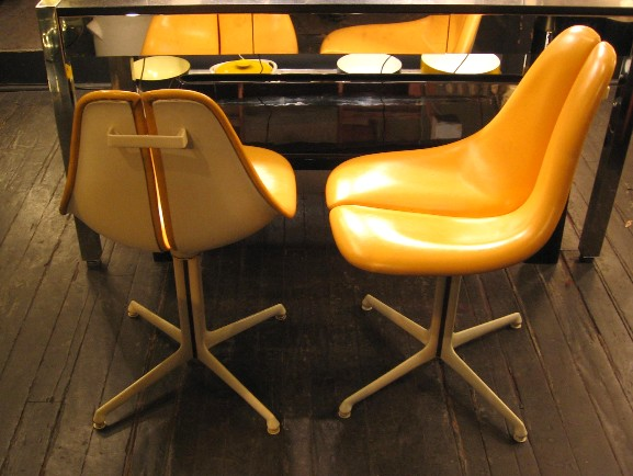 Fiberglass Split Back and Seat Pedestal Chairs