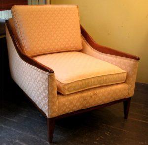 Carved Walnut Arm Club Chair