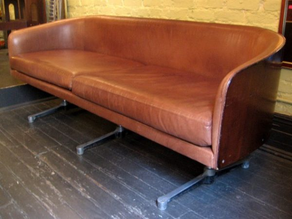 1970s Bentwood Case Sofa Attributed to Milo Baughman