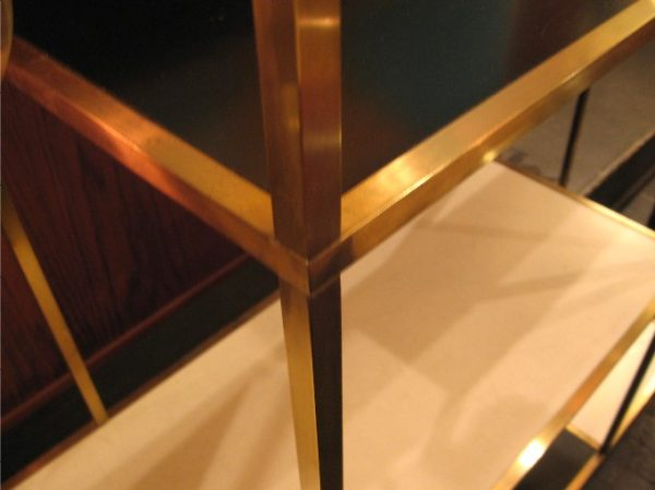 1950s Brass Etagere in the Style of Paul McCobb