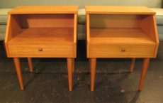 1960s Danish Night Stands in Oak