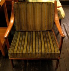 Danish Bent Walnut Club Chair