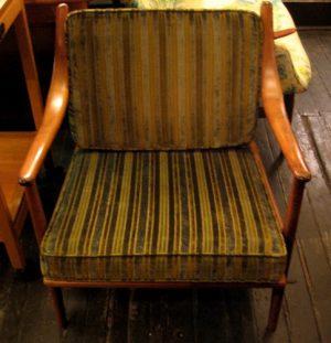 Danish Bent Walnut Club Chair