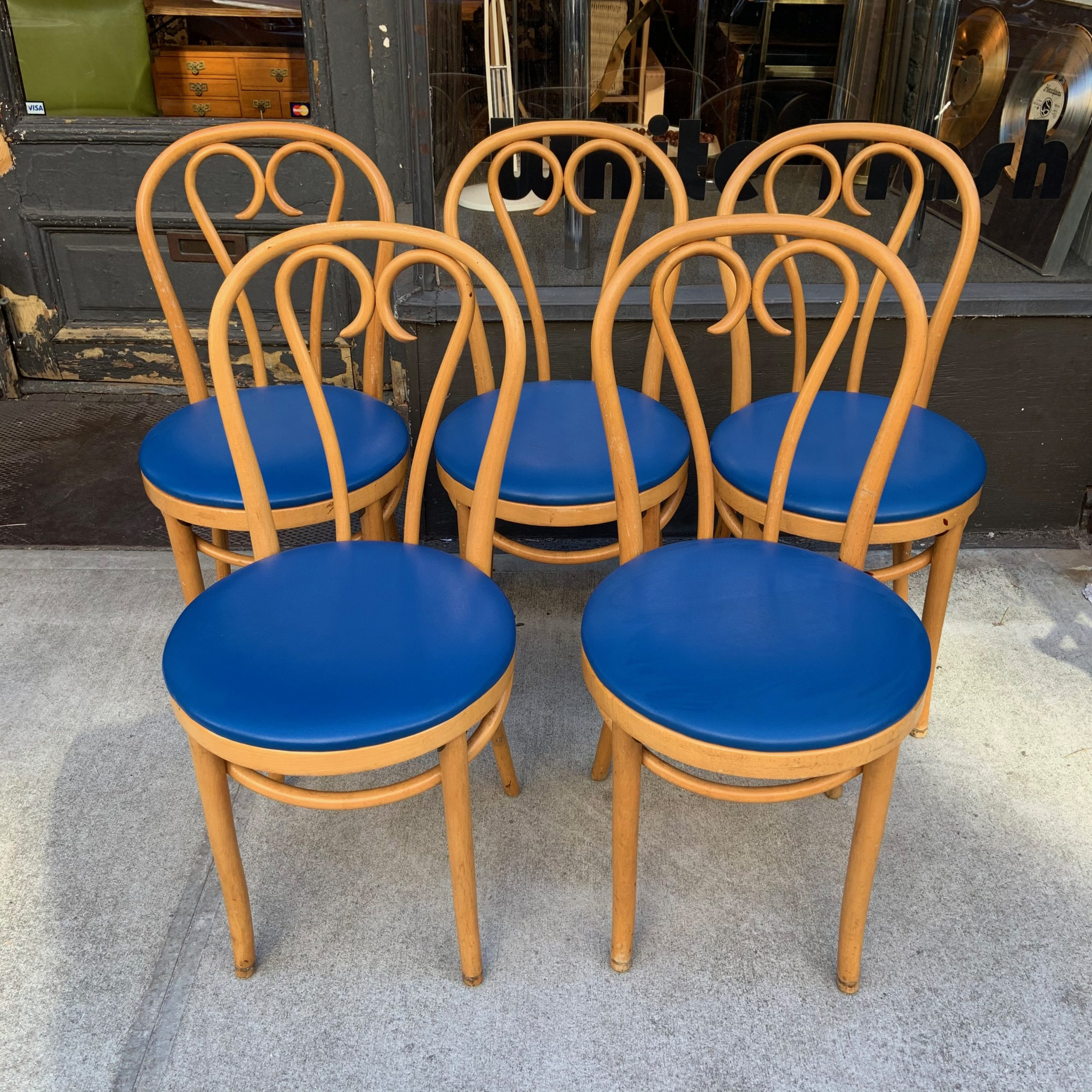 Bentwood Thonet Style Cafe Chairs from Romania - Set of ...