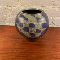 Studio Pottery Orb Shaped Vase by Michael Saul