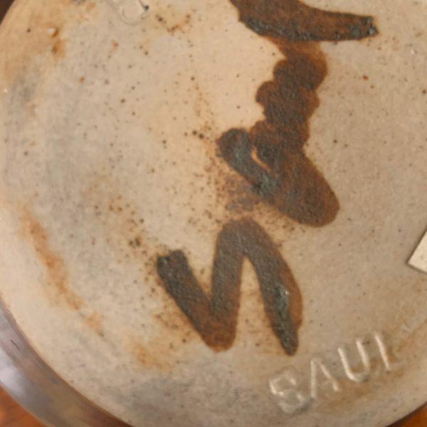 Studio Pottery Orb Shaped Vase by Michael Saul