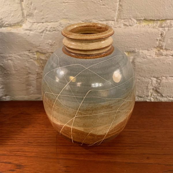Orb Shaped Studio Vase w/ Collared Top
