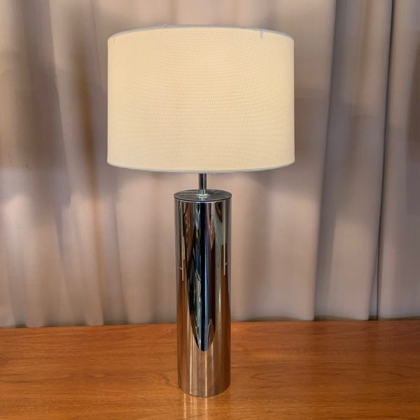 Chrome Tube Lamp attributed to Nessen