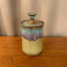 Studio Pottery Lidded Jar, Unsigned