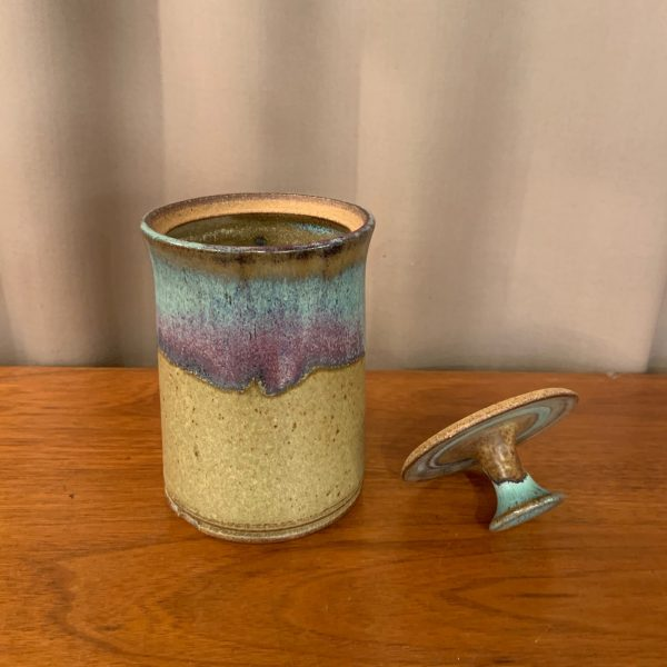 Studio Pottery Lidded Jar, Unsigned