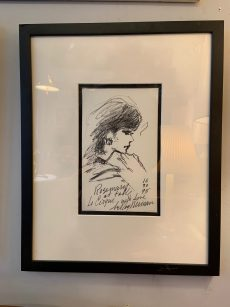 Leroy Neiman Original Table Side Sketch at Le Cirque circa 1995