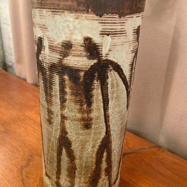 1950s Ceramic Table Lamp, Dancing Figures, by Nancy Wickham Boyd