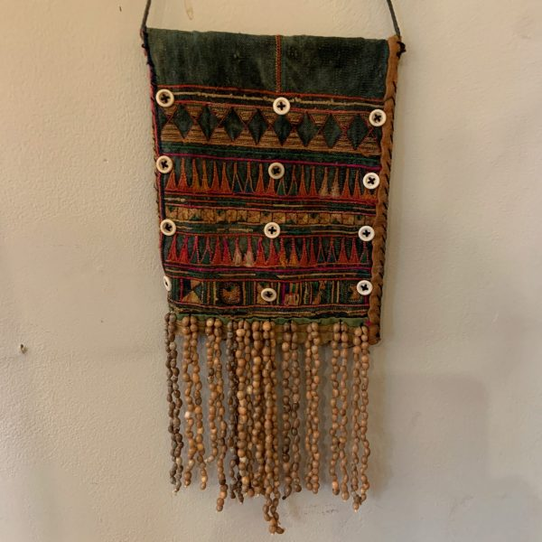 Small Textile Wall Hanging with Intricate Handwork