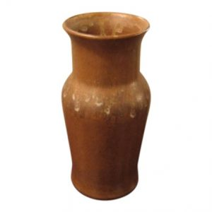 Brown Studio Pottery Vase by A.R.C.
