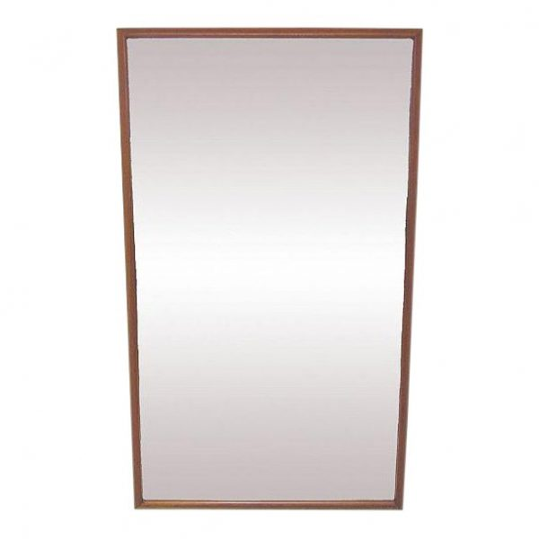 Danish Deep Frame Teak Rectangular Wall Mirror